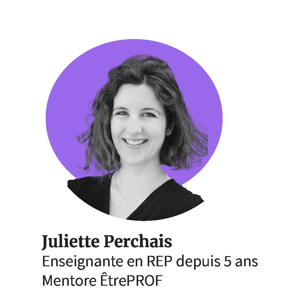 Juliette Perchais, enseignante en REP et mentore ÊtrePROF
